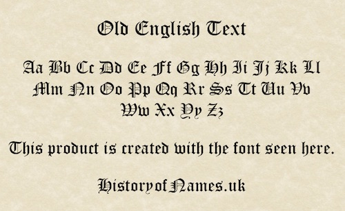Ancient Old English Text on Parchment