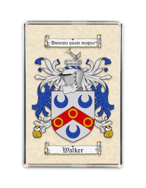 Coat of Arms (Family Crest) Fridge Magnet (Plain Parchment)