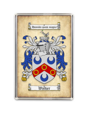 Coat of Arms (Family Crest) Fridge Magnet (Aged Parchment)