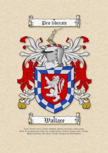 Coat of Arms (Family Crest) on Plain Parchment Paper