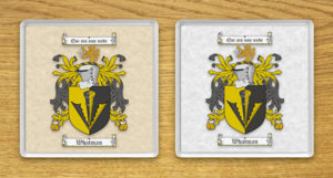 Coats of Arms (Family Crests) Coasters with Parchment Backgrounds